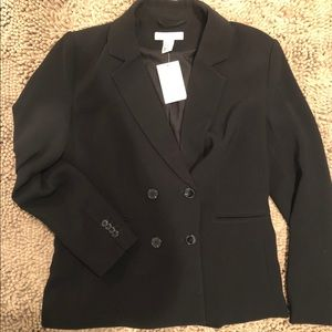 Cross-button Blazer